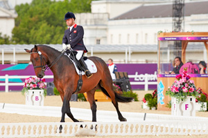 British paralympic equestrian Lee Pearson in action at London 2012.