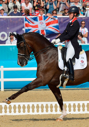 Double Olympic gold medalists Charlotte Dujardin and Valegro, the first British combination to top the FEI World Individual Dressage Rankings.