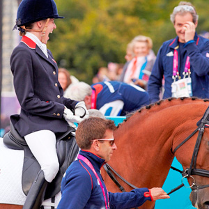 Sophie Christiansen (GBR) and Janeiro 6 scoop the best score of the Games so far taking Great Britain to an even greater lead © FEI/Liz Gregg