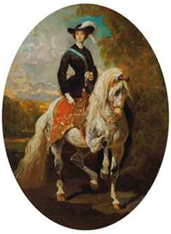 Alfred de Dreux, L'Impératrice Eugénie (nd)