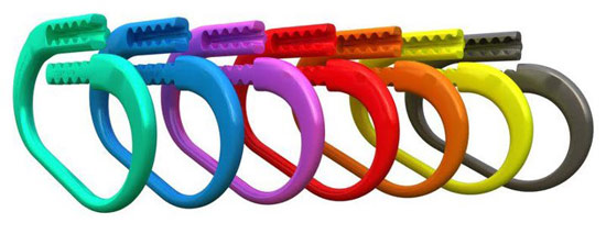 The Safe-T-Ties come in several colors, to match most stable or team colors.