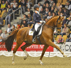 Adelinde Cornelissen (NED) and Jerich Parzival in the first leg of the Reem Acra FEI World Cup™ Dressage 2012/2013 in Odense (DEN).