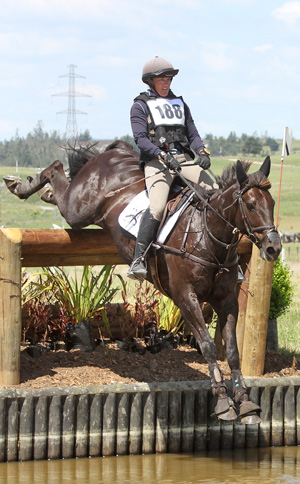Donna Smith and Just Chocolate on their way to winning the CIC3* Advanced One-day Event title at Taup