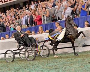 Gib Marcucci at the Kentucky State Fair World's Championship Horse Show (Howard Schatzberg)