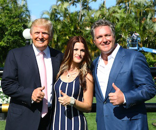 Donald Trump, Cassadee Pope, and Mark Bellissimo.