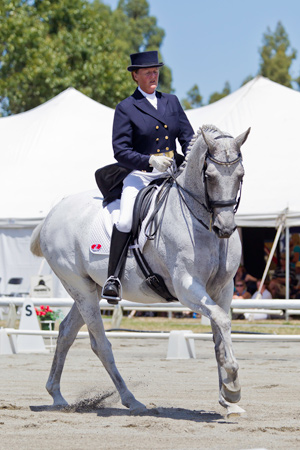 Sally Field-Dodgson and Amberleigh Elite made their mark at Grand Prix today.