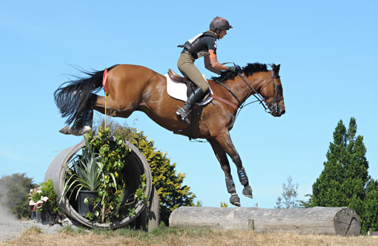 Monica Oakley and Fontain at Rotorua last weekend, where they won the warm-up event.