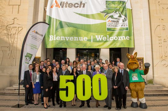 The 500-day countdown to the Alltech FEI World Equestrian Games 2014 in Normandy is marked with the official office opening of Alltech Normandy. Alltech Official Partners;  Philippe Duron, mayor of Caen; Laurent Beauvais, president of the regional council of Basse-Normandie; Dr. and Mrs. Pearse Lyons, Alltech and Norman, the official mascot, joined the celebrations.