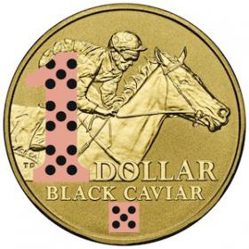 2013 $1 Colour Printed Frosted Uncirculated Coin
