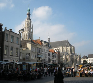 Breda's Grand Church and Market Square.