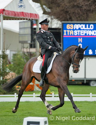 Stefano Brecciaroli (Italy) and Apollo VD Wendi Kurt Hoeve are in second going into the cross-country.