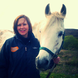 """Jacqui Smalley and pearl: """"Books are the only thing we love more than our horses!"""""""