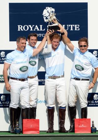 Winning team from left to right, Michael Carrazza, Malcolm Borwick, Prince Harry and Wellington's Marc Ganzi.