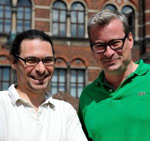Dr. Ludovic Orlando and right professor Eske Willerslev.