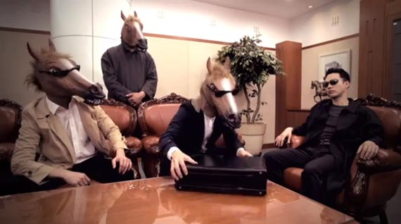 Horses try to negotiate a deal with the humans.