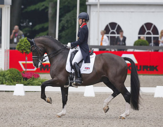 Charlotte Dujardin (GBR) and Valegro competing in the Grand Prix at CDIO 5* Rotterdam.