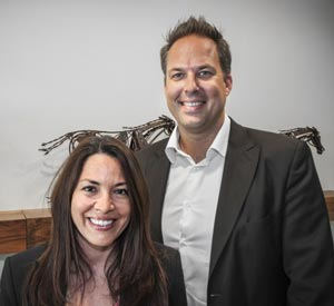Lisa Lazarus, FEI's new chief of business development and strategy, and Mikael Rentsch, FEI legal director, pictured at  FEI Headquarters in Lausanne, Switzerland. Photo: FEI