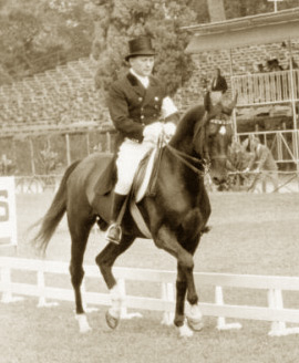 Sergey Filatow and the black Akhal Teke stallion Absent at the 1960 Olympic Games.