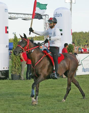 Open European winner Sh Rashid Dalmook Al Maktoum and Yamamah (Kurrajong Concord).