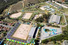 Rio's National Equestrian Center is currently being used as an Olympic Training Center.