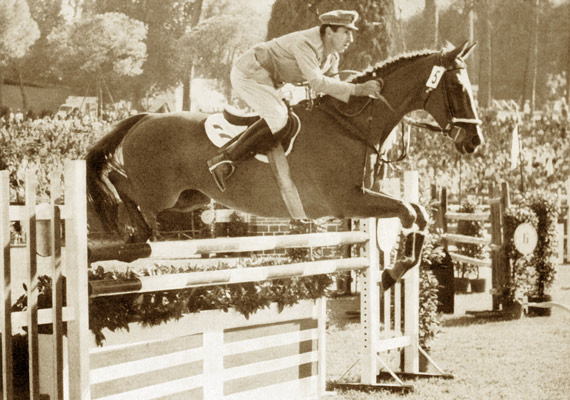 Raimondo D'Inzeo and Posilippo on their way to winning gold at the Rome Olympics in 1960.