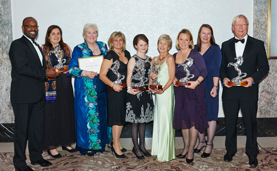 The winners of the Animal Health Trust's Equestrian Awards for 2013 were presented with their awards by Princess Anne.