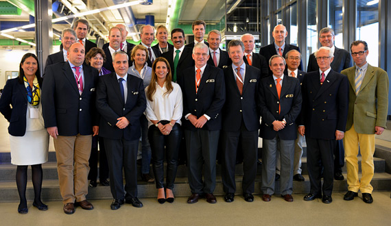 FEI Bureau members on the first day of the FEI General Assembly in Montreux.