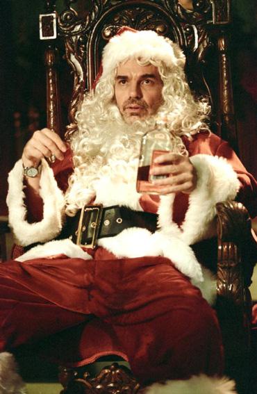 "Billy Bob Thornton in the 2003 movie, ""Bad Santa""."