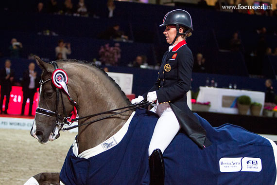 Charlotte Dujardin and Valegro made it two in a row when winning the World Cup leg in Amsterdam.