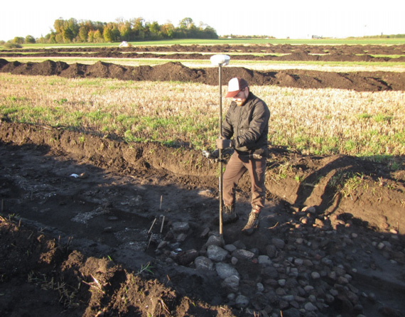 The remains of the Iron Age village are excavated. Photo:  Photo: Nordjyllands Historical Museum