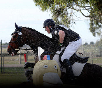 Action at the Melbourne International Horse Trials in Victoria, Australia.