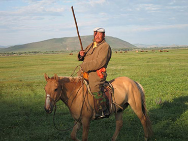 New research suggests that unusual weather aided the rise of the Mongol empire in the 1200s. Many modern Mongolians live as their ancestors did—but climate change may finally drive them off their land. Photo: The Earth Institute, Colombia University