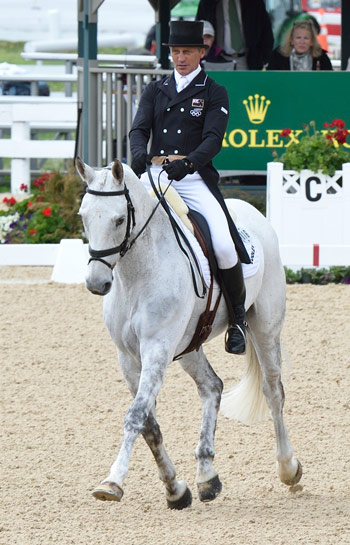Andrew Nicholson and Avebury are in 11th equal place after the dressage.