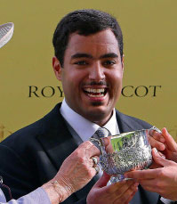 Sheikh Fahad al Thani after his horse Extortionist's win at Royal Ascot.