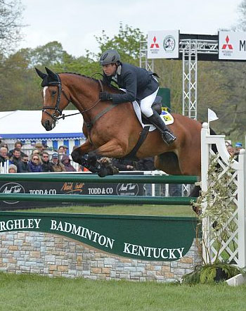 Australia's Sam Griffiths and the Irish-bred Paulank Brockagh on their way to victory in the Mitsubishi Motors Badminton Horse Trials.