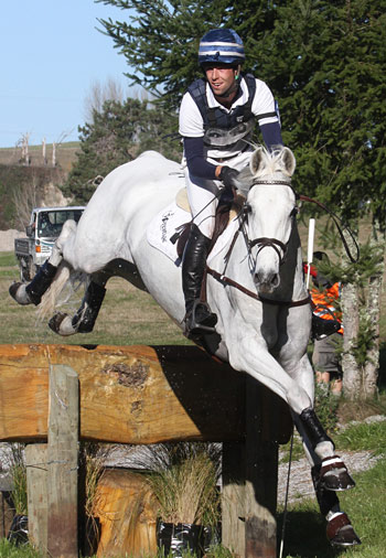 Clarke Johnstone and Balmoral Sensation on the cross-country at Taupo last weekend.