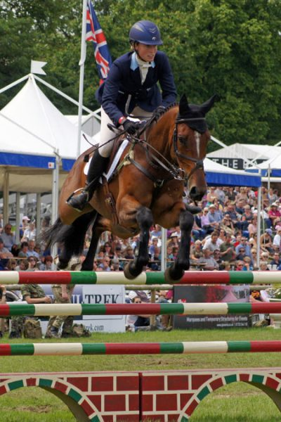 Jodie Amos (GBR) and Wise Crack in the CCI3* at Bramham. © Mike Bain