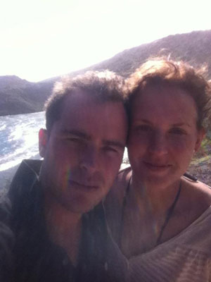 Jordan McDonald, pictured with wife Shandiss, on their honeymoon.