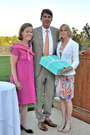 Bonnie Jenkins, Philip Richter and Karen Stives at a United States Equestrian Team Foundation reception in July 2014.