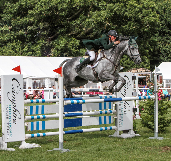 Action on the Camphire showjumping course.