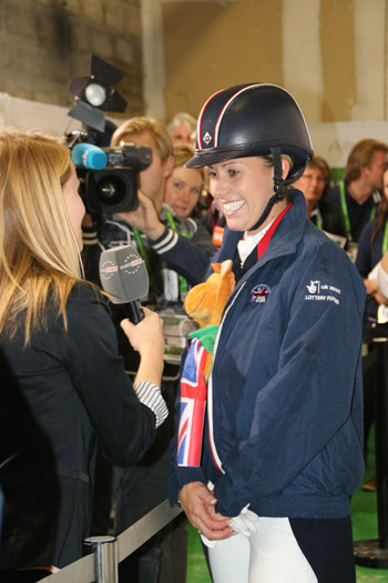 Charlotte Dujardin was as entertaining and charming as her horse, Valegro.