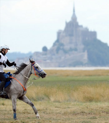 Action at the 2013 Test Event, Bay of Mont St Michel.