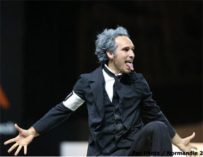 Nicolas Andreani won bronze for his Einstein-theme performance.