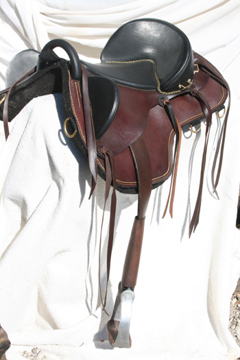 The Sarmatian saddle, designed by Colin Dangaard.