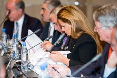 The FEI Bureau meeting, chaired by FEI President HRH Princess Haya, in Baku on Thursday.