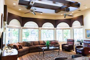 The home has a beautifully appointed interior.