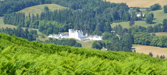 Blair Castle in the Scottish Highlands.