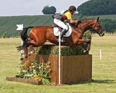 New Zealand rider Bruce Haskell and Rocco II at Salperton in 2010.