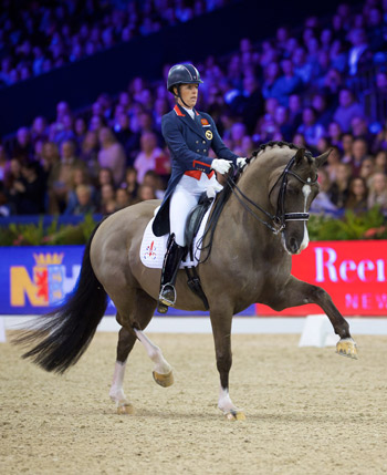 Charlotte Dujardin and Valegro in action.