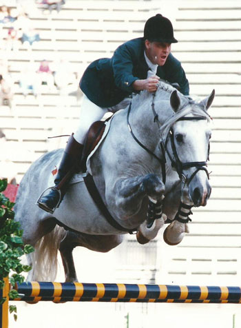 Cruising at the World Cup Jumping Final in 1998.